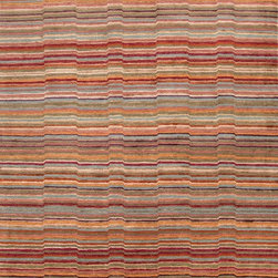 Jaipur Rugs - Hand-Knotted Soft Hand Wool/ Art Silk Red/Blue Area Rug ( 2X3 ) - Hand-knotted in true Tibetan style, the J2 Collection is a study in style and form. Graceful motifs effortlessly dance the line between modern and transitional, possessing a timeless appeal that spans generations. Striking designs and rich color exude the balance of both energy and tranquility that defines the  J2 Collection.