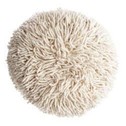 Shag Pouf - This fun little pouf will add some shaggy style to your living room, playroom, bedroom or child's room. I'm loving the big big texture it will bring to any space!