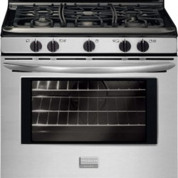 """Frigidaire - Gallery FGGF3030PF 30"""" Freestanding Gas Range with 5.0 cu. ft.  5 Sealed Burners - The Frigidaire Gallery 30 in Freestanding Gas Range lets you cook more at once with a 50 cu ft capacity oven and a cooktop with 5 Gas Sealed Burners including a 16000 BTU Quick Boil burner that boils water fast a center 9500 BTU burner and a Low-Simm..."""