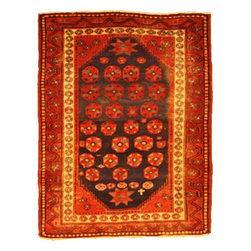 eSaleRugs - 4' 6 x 5' 10 Kurdish Berber Persian Rug - SKU: 110896143 - Hand Knotted Kurdish Berber rug. Made of 100% Wool. 70-80 Years(Antique).