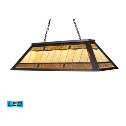 Landmark Lighting - Landmark Lighting Tiffany Game Room Lighting 70113-4-LED 4-Light Billiard/Island - 70113-4-LED 4-Light Billiard/Island Light in Tiffany Bronze Metal - LED - 800 Lumens belongs to Filigree Collection by Landmark Lighting Making A Grand Statement The Filigree Series Offers Lacey Ornamental Openwork Composed Of Intertwined Wire Threads Of Brass. Each Panel Is Hand-Soldered Over The Glass Panel To Add Dimensional Beauty To Each Shade. The Hardware Is Finished In A Classic Aged Bronze (Ab) To Complete The Majestic Presentation. - LED, 800 Lumens (3200 Lumens Total) With Full Scale Dimming Range, 60 Watt (240 Watt Total)Equivalent , 120V Replaceable LED Bulb Included Island Light (1)