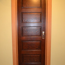 Wallingford Bathroom/ Basement Project - Salvage 5 Panel Door