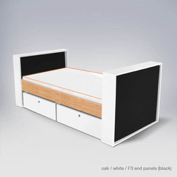 ducduc parker youth bed - Upholstered headboard and footboard.