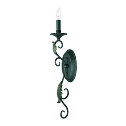 "World Imports - World Imports WI6261 Up Lighting Faux Drip Candle Wall Sconce from the Angela Co - *Requires 1 - 60 watt candelabra base bulb Back Plate Dimensions: 5"" wide x 8"" high Extends 6"""