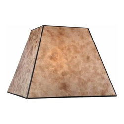 Design Classics Lighting - Square Mica Lamp Shade - SH9586 - This amazing square-shaped mica lamp shade will look wonderful wherever you place it. The blonde color of this artistic piece will discharge a golden glow that will add visual interest and a beautiful decorative accent to any place. Coordinated with a matching lamp base, it can brighten up the corner of your living room, bedside table of your bedroom, or desk of your home office. Powder coated with spider fitter, its dimensions are 8-inch top width by 15-inch bottom width by 12-inch height. It comes from Design Classics Lighting. Dry location rated.