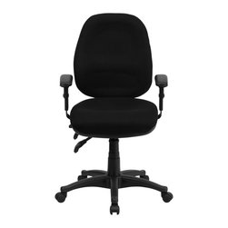 Flash Furniture - Flash Furniture Office Chairs Fabric Task Chairs X-GG-KB-266-TB - This multi-functional computer task chair from Flash Furniture has all the necessary features for all-day comfort while you work. Chair features independent adjustments in seat height, back height, seat angle and back angle - in addition to ergonomic design - this office chair will make any application a pleasure. [BT-662-BK-GG]