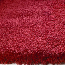 KAS - KAS Bliss 1564 (Red) 5' x 7' Rug - This is a collection that in all honesty...lives up to its name. Featuring extreme softness and luxury, our Bliss super soft shag is available in a number of beautiful colors that will feel amazing underfoot. Densely woven in polyester and suprisingly affordable, these rugs bring sophisticated living to an all-new level.