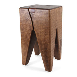 Pfeifer Studio - Modern Solid Wood Stool, Pecan, Eco-Friendly Finish - This solid wood stool in a classic shape is great as an easily-moveable stool or as a little side table. They are made in the USA from timber harvested in the mountains of New Mexico and dried in a solar kiln.