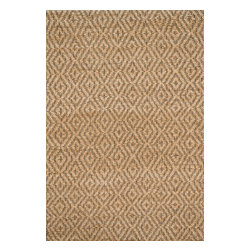 """Loloi Rugs - Loloi Rugs Istanbul Collection - Natural / Green, 3'-6"""" x 5'-6"""" - The warm, all natural tones of 100% jute of the Istanbul Collection offer raw elegance and an organic feel for any room. Intricately hand woven in India, Istanbul is available in simple geometric patterns."""