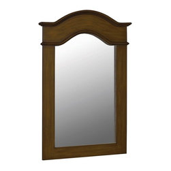 World Imports - Belle Foret 40in.  X 30in.  Framed Vanity Portrait Mirror, Aged Walnut - *MDF construction