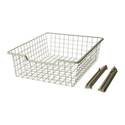 IKEA of Sweden - KOMPLEMENT Wire Basket - Make just about any shelf into a drawer with these wire baskets. You can get your closets or kitchen organized.