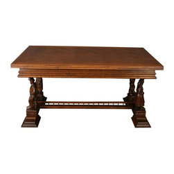 EuroLux Home - 1950 French Brittany Dining Table Chestnut - Product Details