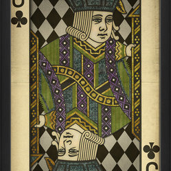 The Artwork Factory - 'Jack of Clubs' Print - You'll play your cards right with this museum-quality artwork. Printed on high resolution, acid-free paper, it makes an impressive yet playful statement in your favorite setting.