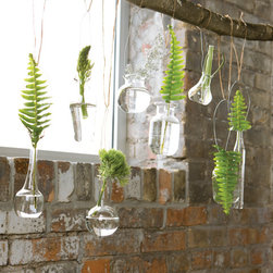 Foliage Hanging Vases - Simple and clean - these are easily a wonderful conversation piece!