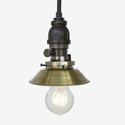 Industrial Cone Shade Rustic Pipe Pendant Light – Oil Rubbed Bronze