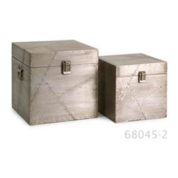 IMAX - Jensen Aluminum Clad Boxes - Set of 2 - 68045-2 - Shop for Decorative Boxes from Hayneedle.com! The Jensen aluminum clad boxes are an industrial mix of aluminum sheets and miniature nail head details reminiscent of aviation style manufacturing.
