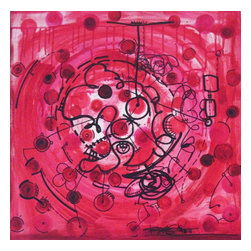 Red Carnival, Original, Painting - Title:  Red Carnival