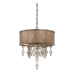 Metropolitan Ajourer Collection 6-Light Drum Pendant - Classic and timeless describe this beautiful Metropolitan Ajourer Collection 6-Light Drum Pendant, which brings to your home a contemporary elegance for today's stylish interiors.