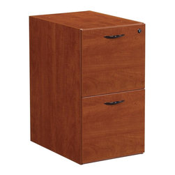 OSP Furniture - Napa 22 in. File Pedestal - Commercial grade. Two drawers with one lock. Full-extension, steel ball-bearing drawer slides for smooth operation. Letter and legal filing. Pre installed metal filing hardware. Leg levelers. Fits 24 in. deep desks, returns and credenzas. GREENGUARD Indoor Air Quality Certified. Warranty: Ten years. Made from wood. No assembly required. 15.50 in. W x 22 in. D x 28 in. H (39.30 lbs.)Napa is built to support todays businesses with solutions for offices, conference and reception areas that provide long-lasting furnishings value. From the executive and managers offices, to multi-person configurations.