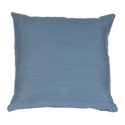 Pillow Decor - Pillow Decor - Tuscany Linen Wedgewood Blue 20 x 20 Throw Pillow - The Tuscany Linen 20 x 20 Throw pillows are 100% linen with a soft natural linen touch and texture. Available in a range of colors and sizes, these linen pillows are ideal solid color accent pillows for your bed or sofa. Mix and match to complement other accent colors in your home.