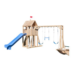 CedarWorks - CedarWorks Frolic 1 Swingset - Mom, can we go to the playground? With a Frolic playset from CedarWorks the playground is never far away. No strollers to manage, no lines at the slide, just a long lasting splinter free playset right in your own backyard. Assembly is required.