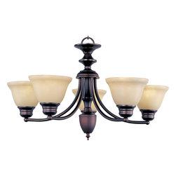Maxim-Lighting - Maxim-Lighting 2699Wsoi Malaga 5-Light Chandelier - Maxim-Lighting 2699WSOI Malaga 5-Light Chandelier