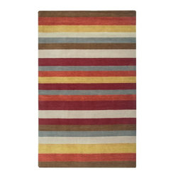 Rizzy Rugs - Solid/Striped Platoon 2'x3' Rectangle Red Area Rug - The Platoon area rug Collection offers an affordable assortment of Solid/Striped stylings. Platoon features a blend of natural Red color. Handmade of New Zealand Wool Blend the Platoon Collection is an intriguing compliment to any decor.