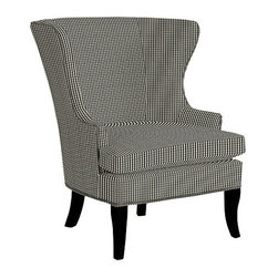 Thurston Wing Chair With Pewter Nailheads, Small Check Black - I love the look of a gingham chair. It's super masculine and rustic, but when paired correctly, it looks beautiful.