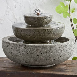 Campania - Platia Cast Stone Tabletop Fountain -