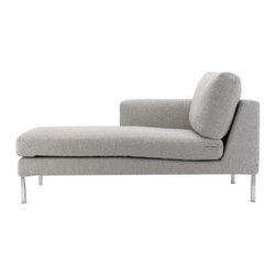 Bensen - Neo Left Chaise - If you ask Niels Bendtsen why his Neo Collection (1998) is just as relevant today as when he first designed it, he_ll point out its proportions, which are something he's developed and perfected over time. In the 1960s, Bendtsen was importing Scandinavian furniture, but began designing his own when he couldn't find the quality and aesthetics he wanted. Neo is a culmination of Bendtsen's experiences as an importer and designer. The frame is hand-built and draws on techniques Bendtsen learned from his father, who also designed furniture. The foam seat cushions are sourced from Italy because he hasn't found any others that offer his ideal mix of firm support and comfort. And the removable cushion covers make Neo an easy-to-live-with collection. Bendtsen's work is in the permanent collection of MoMA, and he was honored with the 2006 British Columbia Creative Achievement Award of Distinction. Made in Canada. Due to the size and weight of this item, we recommend our White Glove delivery service. Please review our shipping options. During checkout you will select the option that best fits your needs.