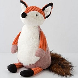 """Anthropologie - Cuddlesome Fox - PolyesterSpot clean16""""H, 15.5""""WImported"""