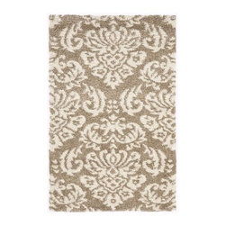 Safavieh - Rectangular Flokati Shag Rug (7 ft. 6 in. x 5 ft. 3 in.) - Size: 7 ft. 6 in. x 5 ft. 3 in. Power loomed. Raised high low pile. Made from polypropylene. Beige and cream color. Pile height: 1 in. This Florida shag rug offers luxurious comfort and unique styling.