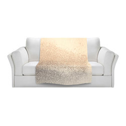DiaNoche Designs - Throw Blanket Fleece - Monika Strigel Gatsby Gold I - Original Artwork printed to an ultra soft fleece Blanket for a unique look and feel of your living room couch or bedroom space.  DiaNoche Designs uses images from artists all over the world to create Illuminated art, Canvas Art, Sheets, Pillows, Duvets, Blankets and many other items that you can print to.  Every purchase supports an artist!