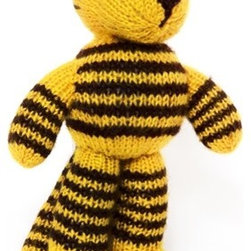 Sitara Collections - Hand-Knitted Toy Tiger - A Fierce Protector (and Fiercely Huggable toy) for Your Little ome. Each of our Stuffed Tigers is Unique, Right Down to His Stripes, Thanks to Hand-Knit Craftsmanship using omly Natural, top-Quality Materials. But Kids Will omly Notice His Outstretched arms Just Waiting for a Hug. amazingly soft Butter Fabric soft, Squishy Fill Machine washable Set includes: ome (1) Plush Tiger Stuffed animal Materials: Dyed acrylic Wool, Polyester Fiber Fill Stuffing, Thread Embroidery Color: Multicolored Dimensioms: 8.00 inches High X 6.20 inches Wide X 4.00 inches Deep Weight: 0.65 Pounds.