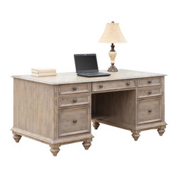 Riverside Furniture - Riverside Furniture Coventry Executive Desk in Weathered Driftwood - Riverside Furniture - Executive Desks - 32435 - Riverside's products are designed and constructed for use in the home and are generally not intended for rental, commercial, institutional or other applications not considered to be household usage.