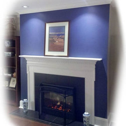 Fireplace creation with EasyHearth electric fireplace - Fireplace built fon bedroom wall for Dimplex electric firebox