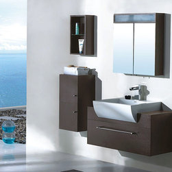 "Bardalina - Modern Bathroom Vanity Set 39.4"" - The Bardalina is a contemporary bathroom vanity set that embraces the latest trend in luxury modern bathroom design by choosing to incorporate sophisticated designs and shapes into every bathroom."