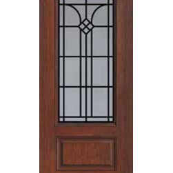 "Single Door 80 Fiberglass Cantania 1 Panel 3/4 Lite GBG Glass - SKU#    MCR082WCABrand    GlassCraftDoor Type    ExteriorManufacturer Collection    3/4 Lite Entry DoorsDoor Model    CantaniaDoor Material    FiberglassWoodgrain    Veneer    Price    1080Door Size Options      +$percent  +$percentCore Type    Door Style    Door Lite Style    3/4 LiteDoor Panel Style    1 PanelHome Style Matching    Door Construction    Prehanging Options    Slab , PrehungPrehung Configuration    Single DoorDoor Thickness (Inches)    1.75Glass Thickness (Inches)    Glass Type    Double GlazedGlass Caming    Glass Features    Tempered glassGlass Style    Glass Texture    Glass Obscurity    Door Features    Door Approvals    TCEQ , Wind-load Rated , AMD , NFRC-IG , IRC , NFRC-Safety GlassDoor Finishes    Door Accessories    Weight (lbs)    248Crating Size    25"" (w)x 108"" (l)x 52"" (h)Lead Time    Slab Doors: 7 Business DaysPrehung:14 Business DaysPrefinished, PreHung:21 Business DaysWarranty    Five (5) years limited warranty for the Fiberglass FinishThree (3) years limited warranty for MasterGrain Door Panel"