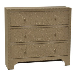 Springfield 3 Drawer Nailhead Chest - Springfield 3 Drawer Nailhead Chest