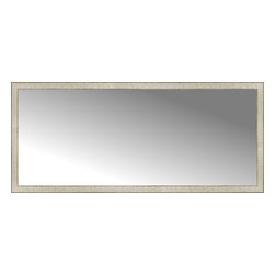 """Posters 2 Prints, LLC - 71"""" x 31"""" Libretto Antique Silver Custom Framed Mirror - 71"""" x 31"""" Custom Framed Mirror made by Posters 2 Prints. Standard glass with unrivaled selection of crafted mirror frames.  Protected with category II safety backing to keep glass fragments together should the mirror be accidentally broken.  Safe arrival guaranteed.  Made in the United States of America"""