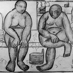 """Kazimir Malevich In the Baths - 18"""" x 24"""" Premium Archival Print - 18"""" x 24"""" Kazimir Malevich In the Baths premium archival print reproduced to meet museum quality standards. Our museum quality archival prints are produced using high-precision print technology for a more accurate reproduction printed on high quality, heavyweight matte presentation paper with fade-resistant, archival inks. Our progressive business model allows us to offer works of art to you at the best wholesale pricing, significantly less than art gallery prices, affordable to all. This line of artwork is produced with extra white border space (if you choose to have it framed, for your framer to work with to frame properly or utilize a larger mat and/or frame).  We present a comprehensive collection of exceptional art reproductions byKazimir Malevich."""