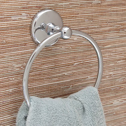 Freesia Towel Ring - The Freesia Collection Towel Ring is a must have for any bathroom. This towel ring combines an elegant design with modern functionality. Complete your bathroom accessory set with other items from the Freesia Collection.