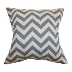 The Pillow Collection Xayabury Zigzag Pillow - Ash White Slub - Popular and timeless, chevrons make The Pillow Collection Xayabury Zigzag Pillow - Ash White Slub perfect. This square pillow is features a zigzag pattern in ash and white designed to get attention. It has a cotton cover and luxurious feather and down blend fill. Dry clean only.About The Pillow CollectionIdentical twin brothers Adam and Kyle started The Pillow Collection with a simple objective. They wanted to create an extensive selection of beautiful and affordable throw pillows. Their father is a renowned interior designer and they developed a deep appreciation of style from him. They hand select all fabrics to find the perfect cottons, linens, damasks, and silks in a variety of colors, patterns, and designs. Standard features include hidden full-length zippers and luxurious high polyester fiber or down blended inserts. At The Pillow Collection, they know that a throw pillow makes a room.