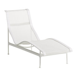Knoll - Richard Schultz 1966 Collection Chaise Lounge - You'll feel like a screen siren on holiday atop this chic chaise. Designed by Richard Schultz with a sleek aluminum frame and a woven vinyl coated polyester mesh sling, this iconic, elegantly contoured piece can turn simple sunbathing into a dramatic statement.