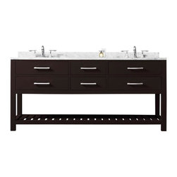 "Water Creation - Water Creation Madalyn 72E 72"" Espresso Double Sink Bathroom Vanity - Water Creation Madalyn 72E 72"" Espresso Double Sink Bathroom Vanity From The Madalyn Collection"