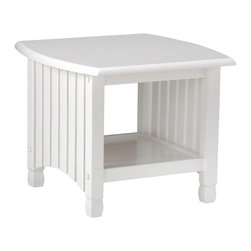 Night & Day Furniture - Night and Day Keywest End Table in White - Our Key West End Tables is a must for Key West futon group. As with all our Standard collection Tables we give you the added utility of a storage shelf below.