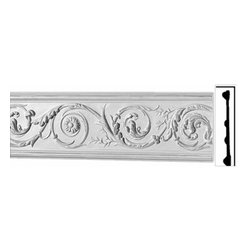 Renovators Supply - Crown Moldings White Urethane Paris - Crown Molding - Ornate | 20803 - Crown Moldings: Made of virtually indestructible high-density urethane our crown molding is cast from steel molds guaranteeing the highest quality on the market. High-precision steel molds provide a higher quality pattern consistency, design clarity and overall strength and durability. Lightweight they are easily installed with no special skills. Unlike plaster or wood urethane is resistant to cracking, warping or peeling.  Factory-primed our crown molding is ready for finishing. Measures 89 3/8 inch x 8 inch