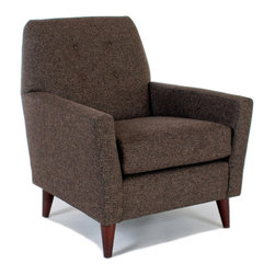 Liberty Manufacturing Company - Shelby Chair, Java - Shelby features an attractively tight back, complemented by tasteful button-tufts. Her soft angles were designed to pair seamlessly with our sofas, or to stand alone as a stylish statement in her own right.