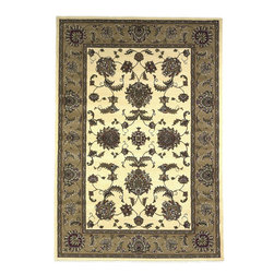 Cambridge 7344 Ivory/Beige Bijar Rug - Our Cambridge Series is machine-woven in China of heat-set polypropelene. This line features a current color palette in classic and transitional patterns providing a well-designed and durable rug at a very affordable price point. No fringe.