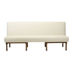 EcoFirstArt - Hotel Lorena Sofa - This sleek sofa with its midcentury modern mentality can now take pride of place in your home or office. It features a minimal frame made of sustainable wood, clean straight lines, and a center seat that gives the illusion of being suspended in air.